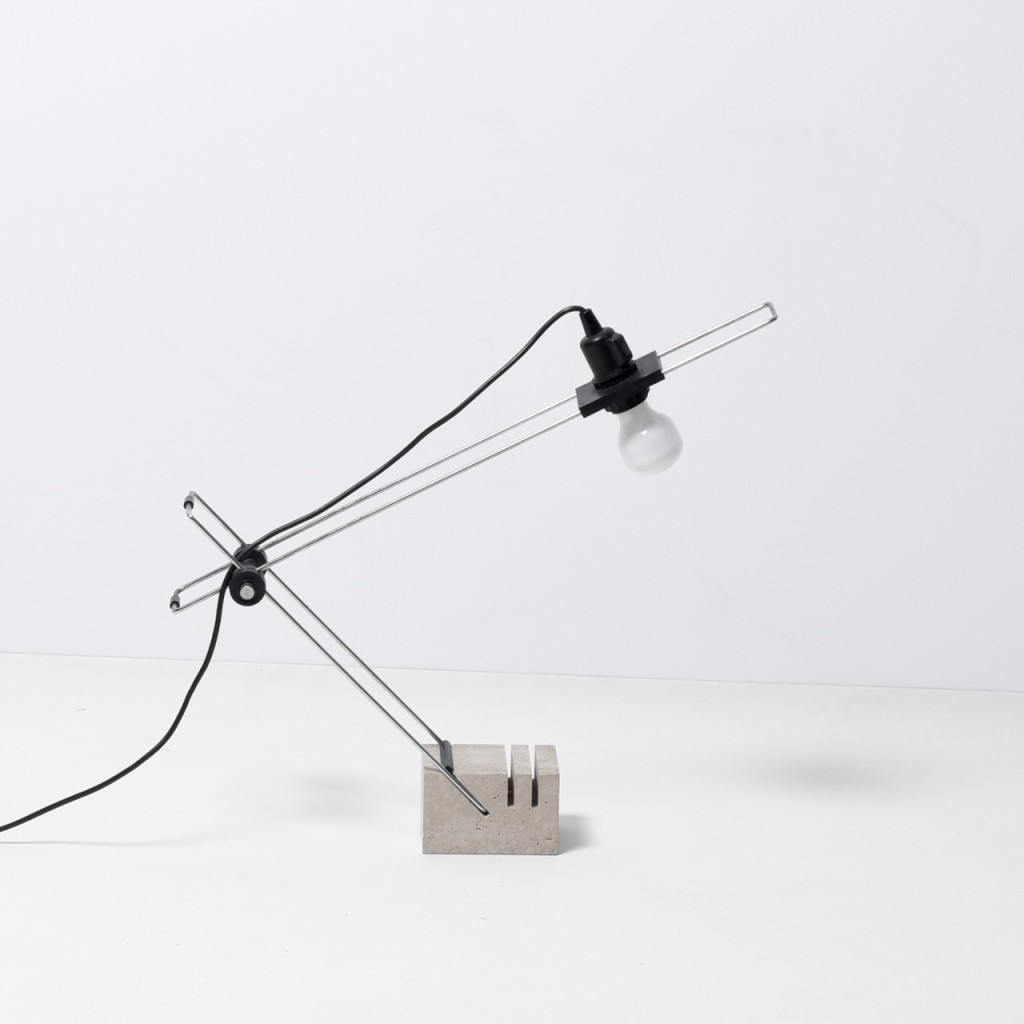 Postmodern travertine desk lamp