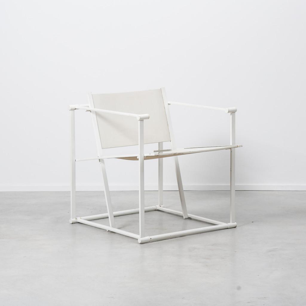 Radboud Van Beekum White FM62 Cube chairs