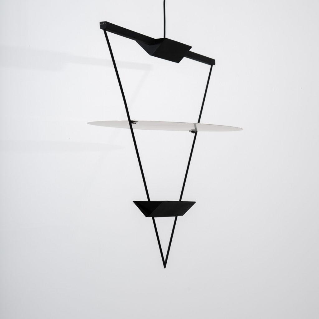 Mario Botta inverted triangle lamp