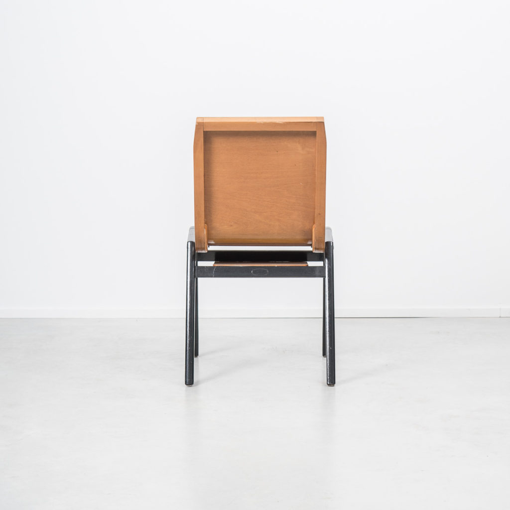 Roland Rainer bent ply chairs