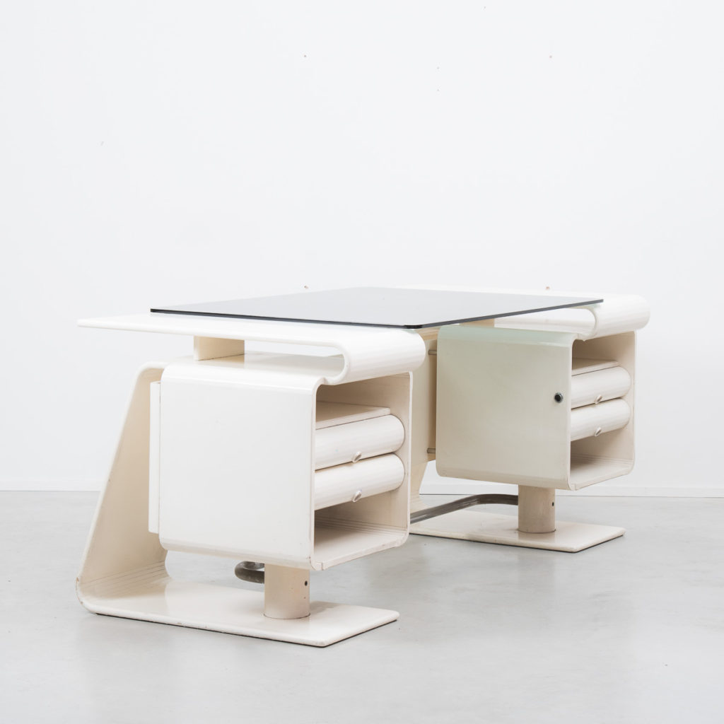 An Italian postmodern white desk