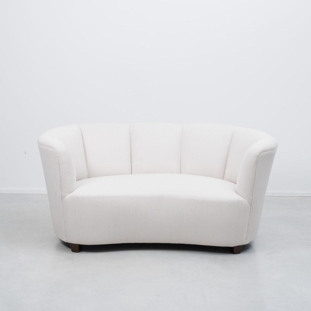 1940s Danish banana sofa