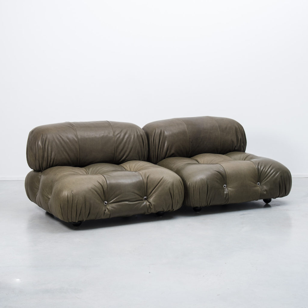 Mario Bellini Camaleonda Sofa In Leather B 233 Ton Brut