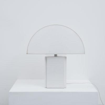 Harvey Guzzini Olympe table lamp white, Italy 1970