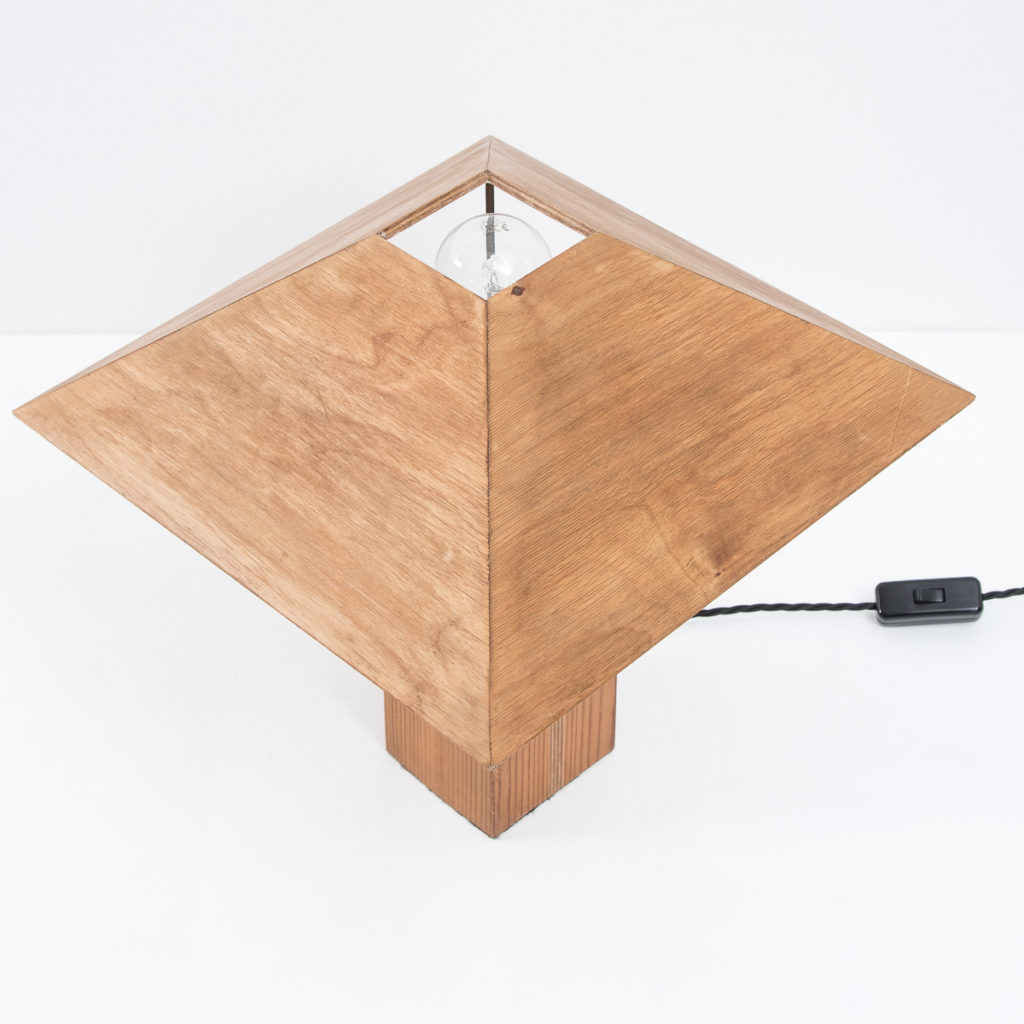 Pair of plywood wooden lamps