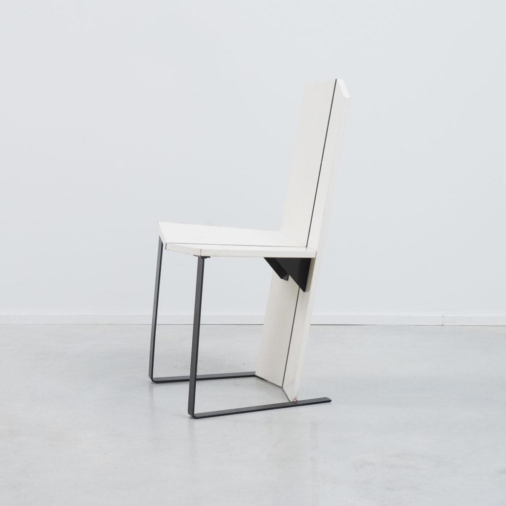 White De Stijl side chair