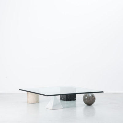 Massimo and Lella Vignelli marble Metafora 1950s italian marble coffee table