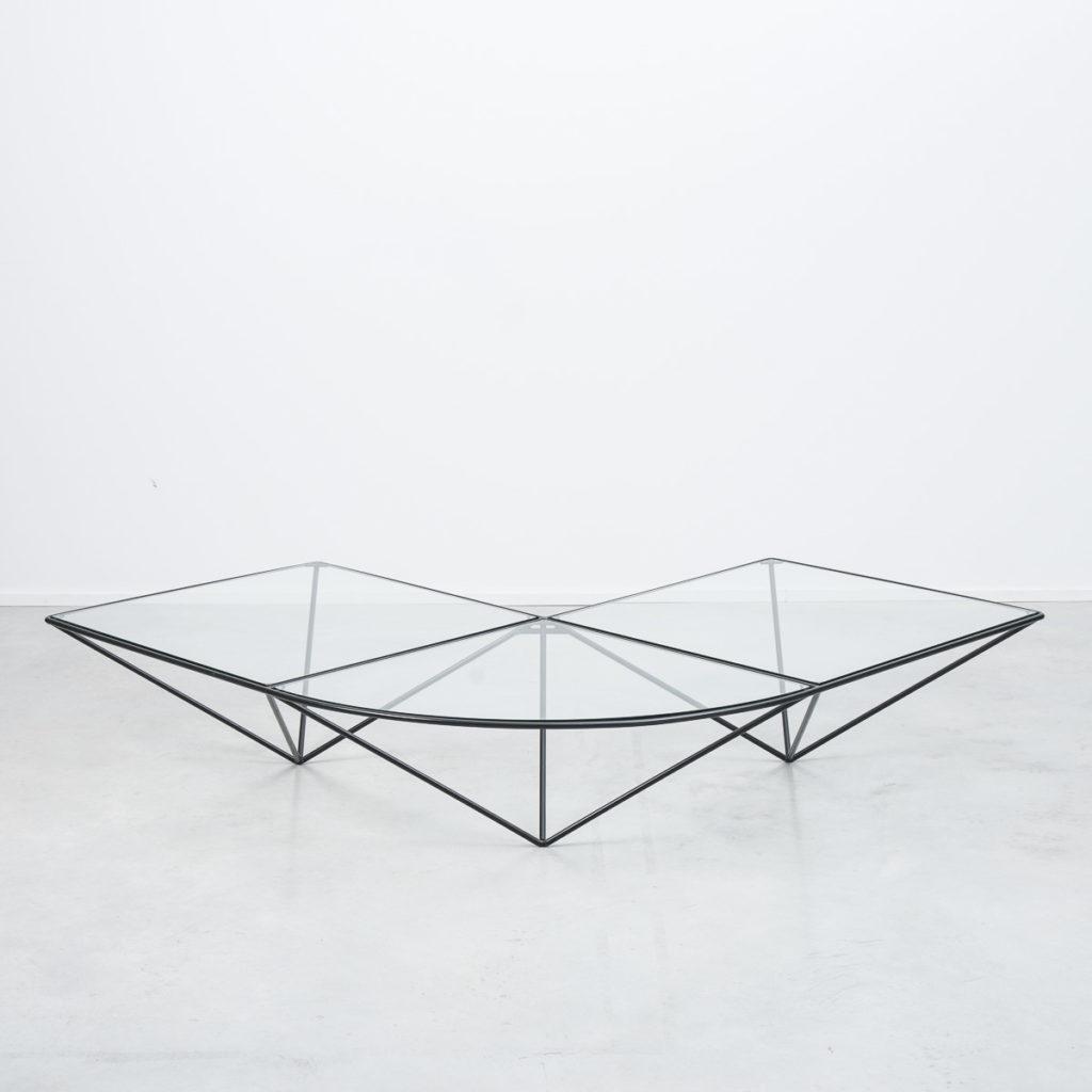 Dutch glass corner coffee table