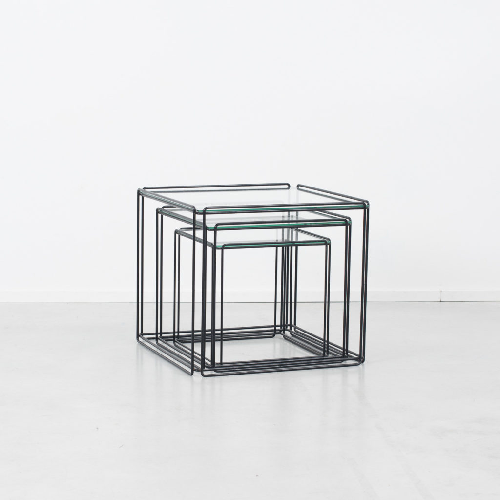 Max Sauze black nesting tables