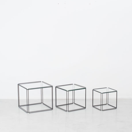 Max Sauze trio black nesting tables