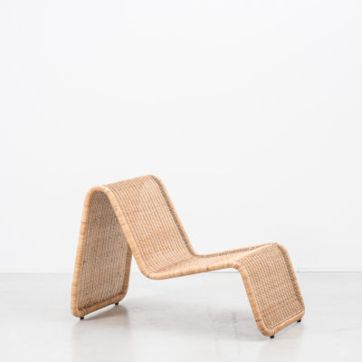 Tito Agnoli rattan P3 easy chair