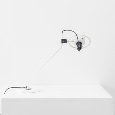 Desk Lamp With Milk Glass Hood