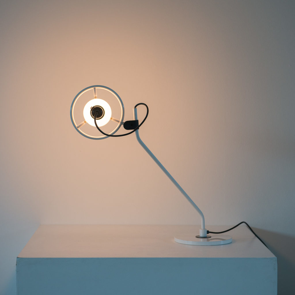 Desk Lamp With Milk Glass Hood