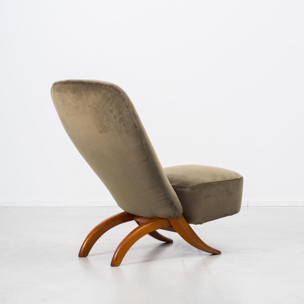Theo Ruth velvet Congo chair