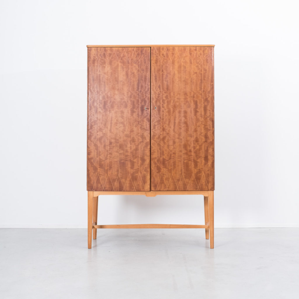 Inlaid wooden cabinet