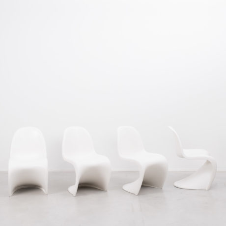 A set of 4 Panton chairs