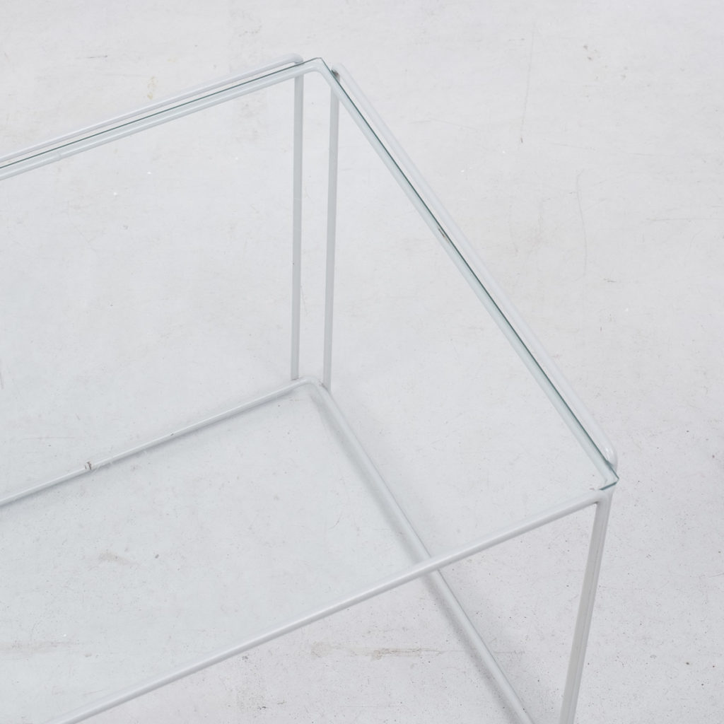 Trio of Max Sauze grey nesting tables