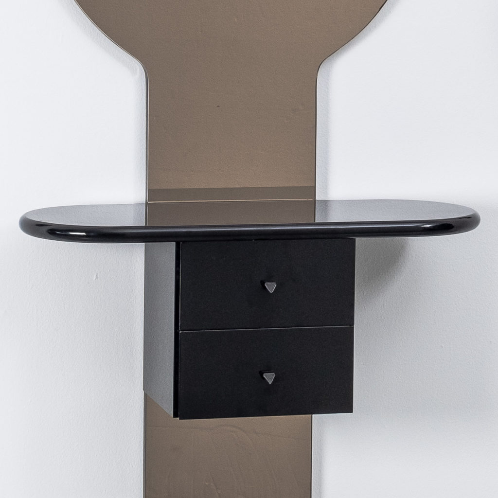 Wall mounted mirror and console