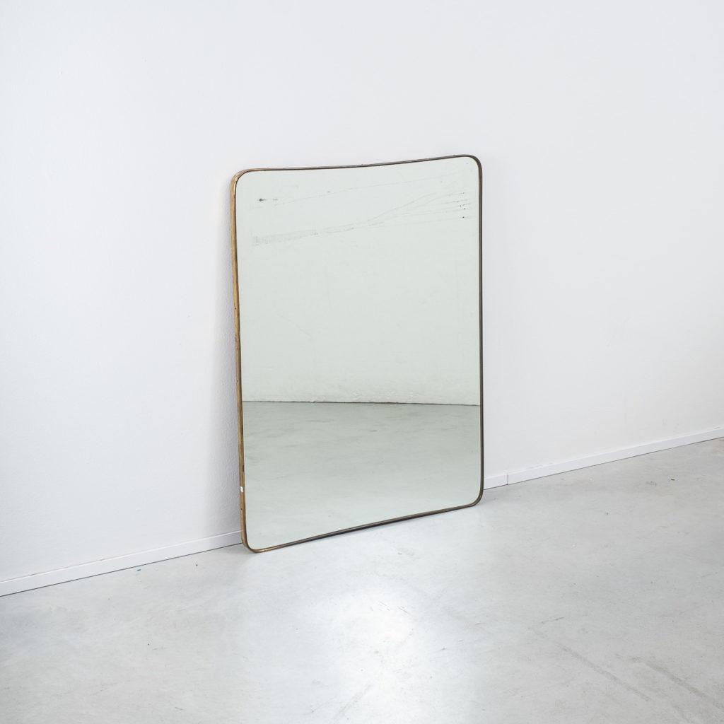 Tapered Italian brass mirror