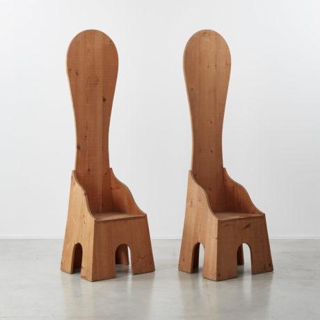 Pair of Mario Ceroli Fratina chairs