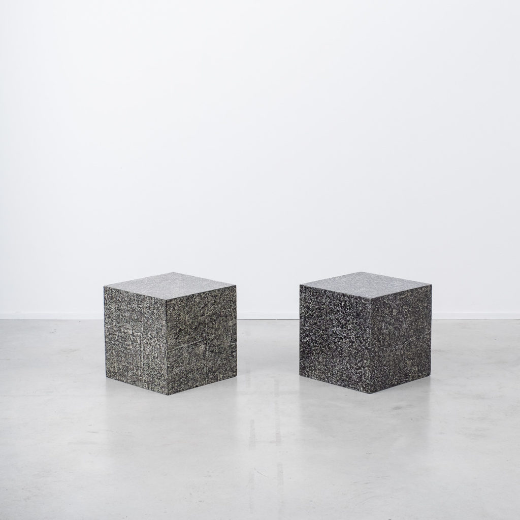 Pair of cube tables