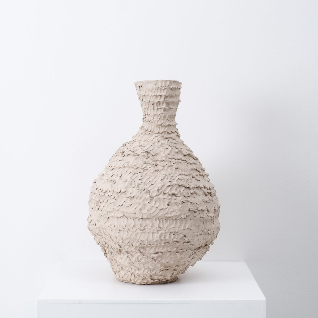 Large ceramic vessel by Su Rogers