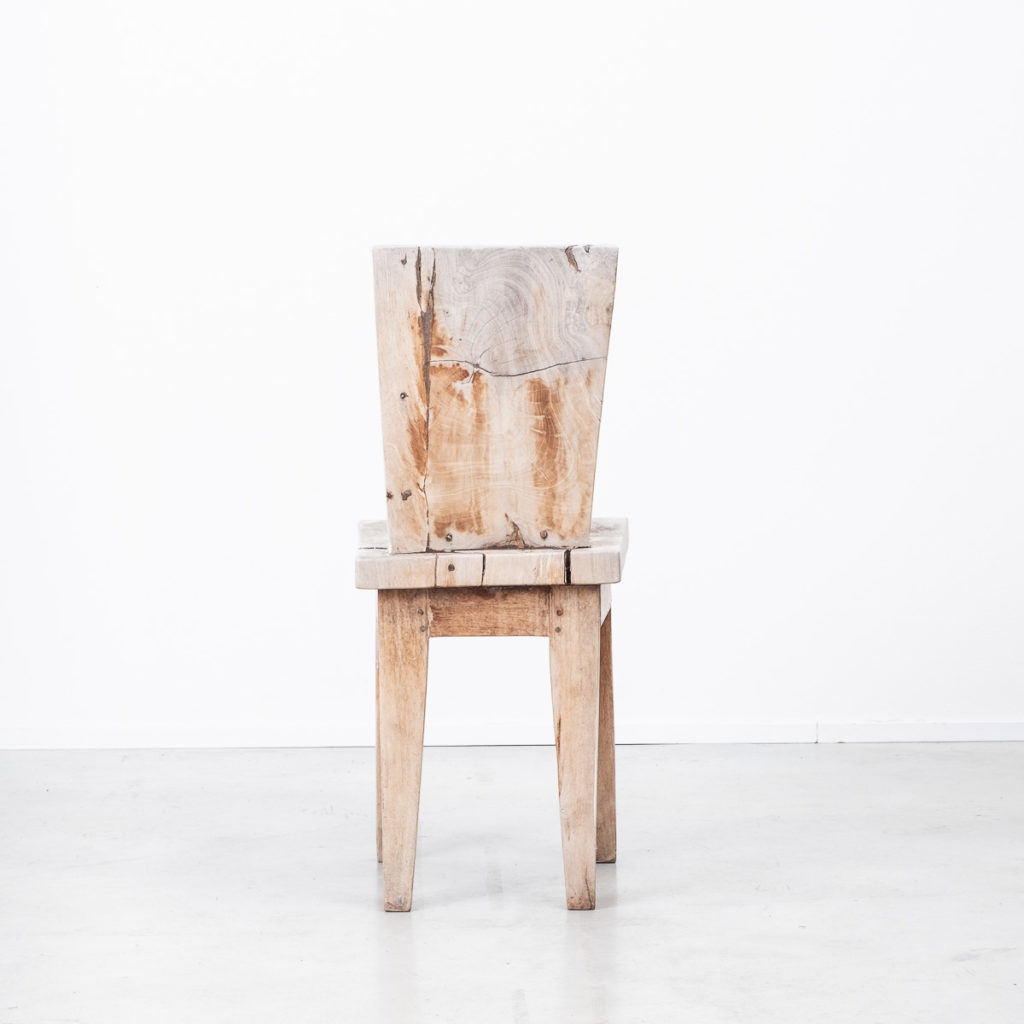 Weathered constructivist chair
