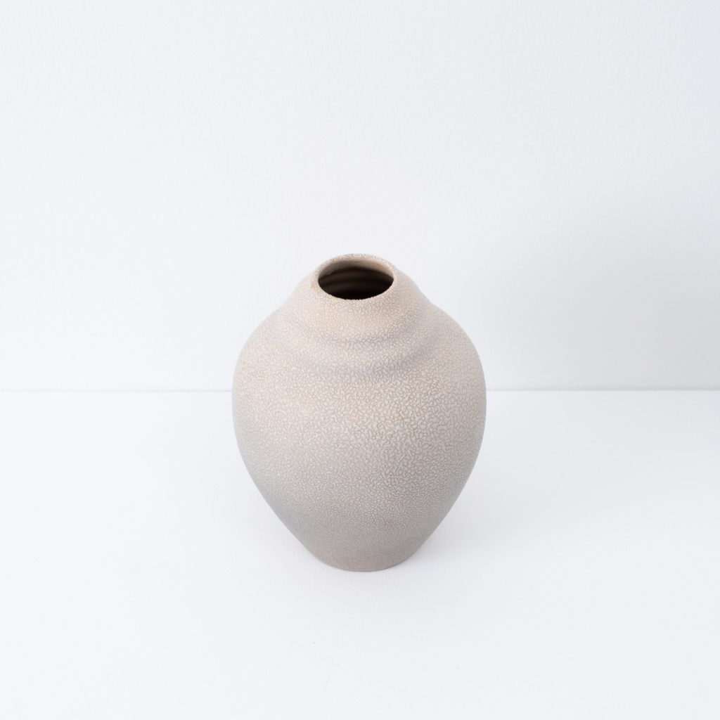 Ceramic vase with textured glaze