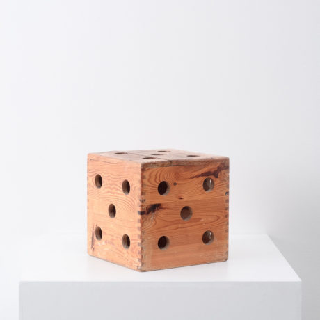 Wooden dice stool / sculpture