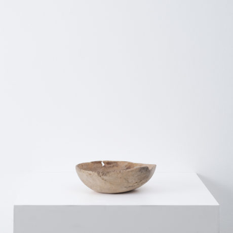 Hand crafted wooden dough bowl