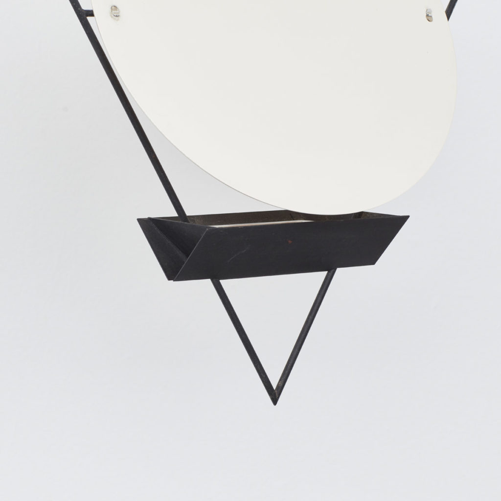 Mario Botta inverted triangle lamp