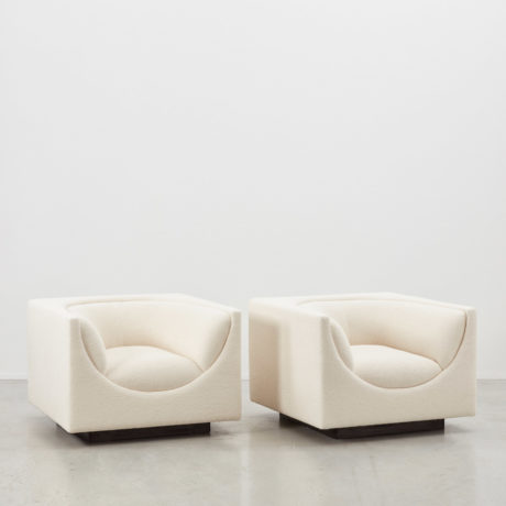 Jorge Zalszupin pair Cubo chairs