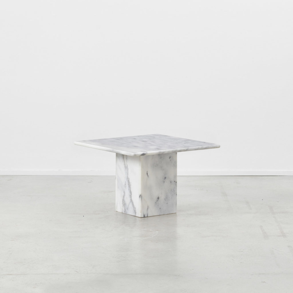 Trio of marble side tables