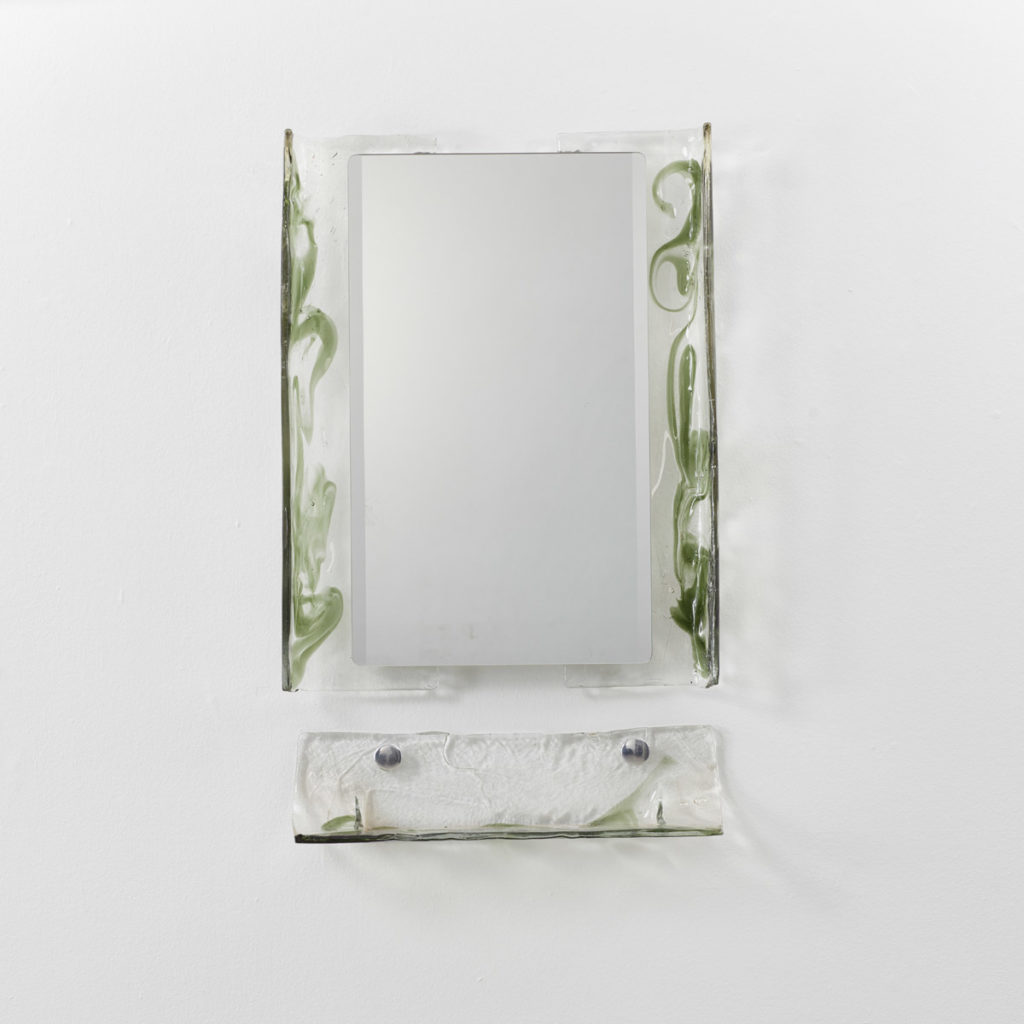 Carlo Nason Murano glass mirror & shelf
