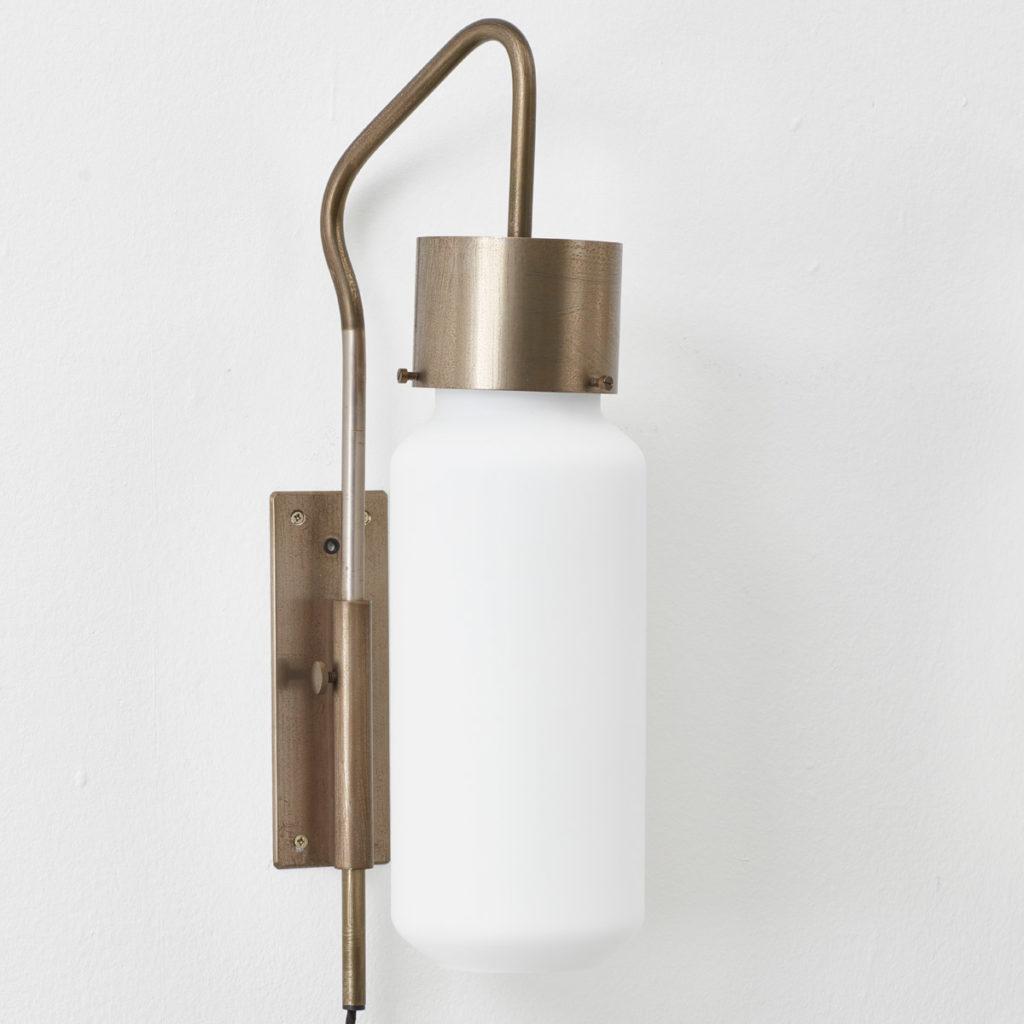 A pair of Bidone wall lights by Luigi Caccia Dominioni