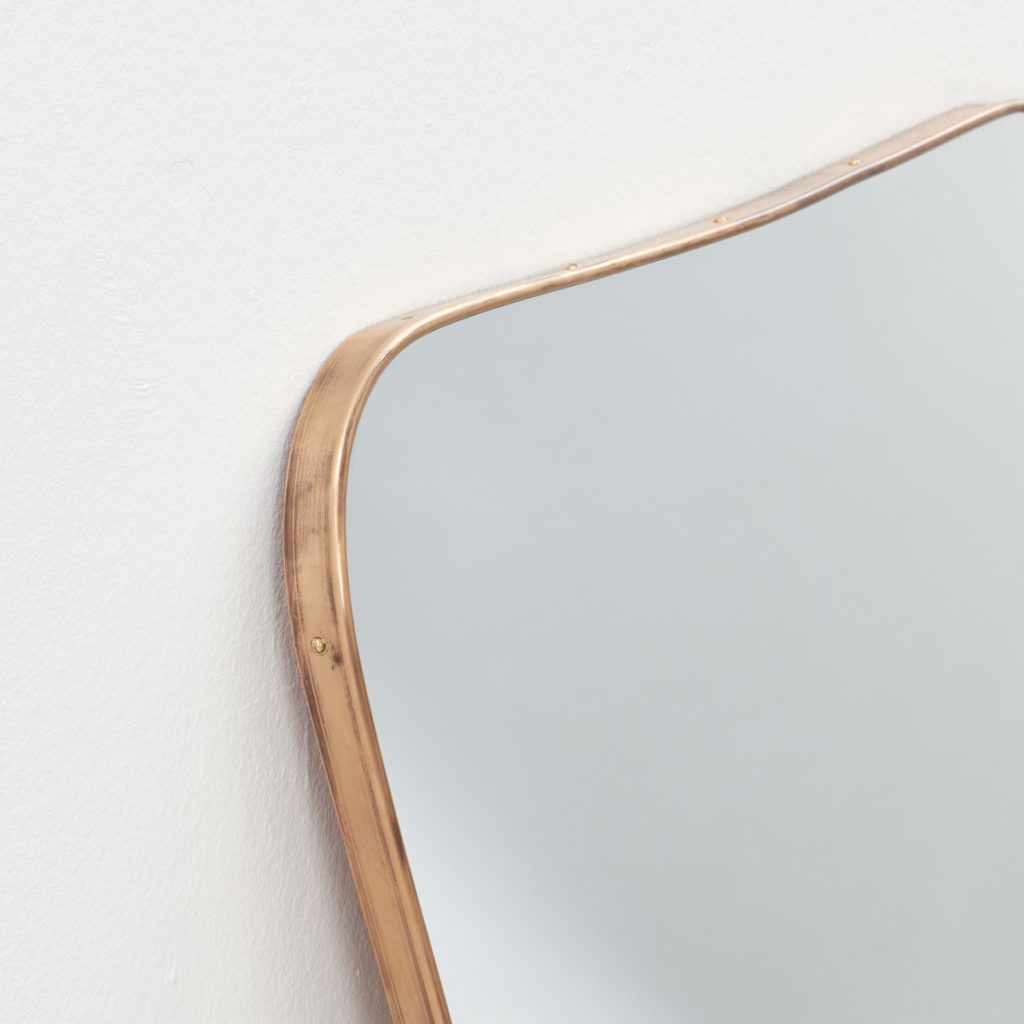 Large 1950s Italian brass mirror (b)