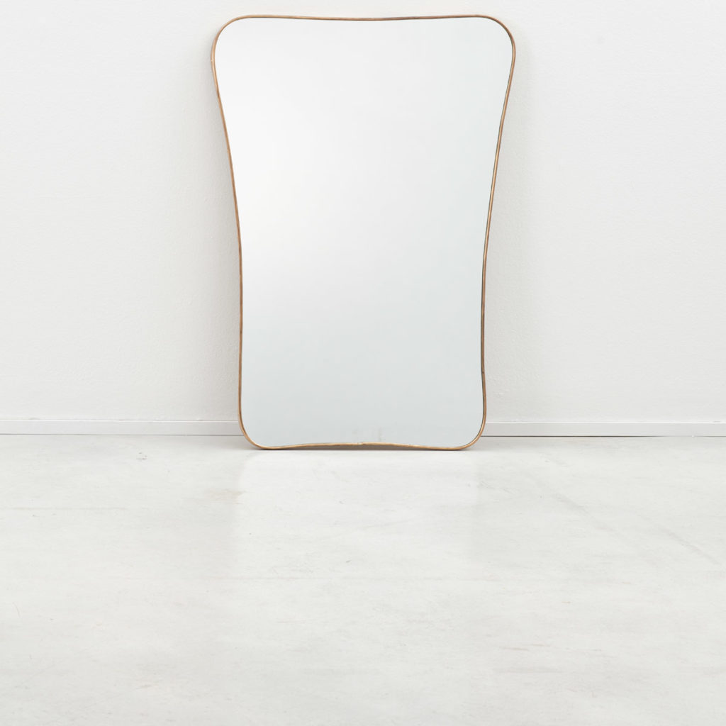 Large 1950s Italian brass mirror (b)