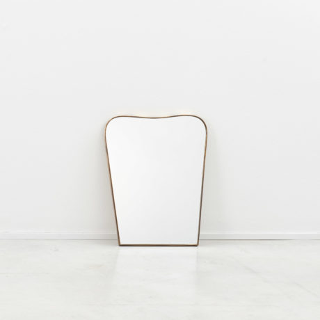 Small Italian brass mirror (a)