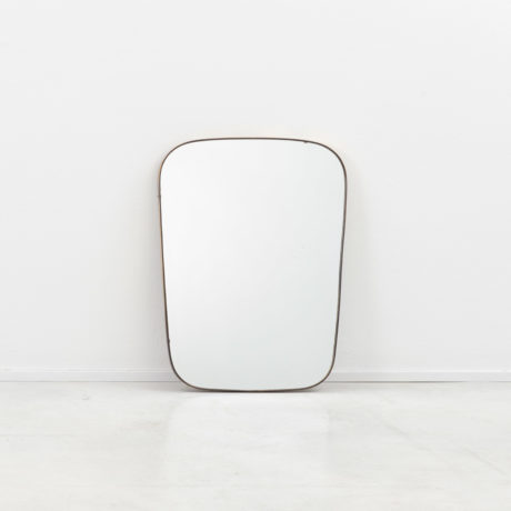 Small Italian brass mirror (b)