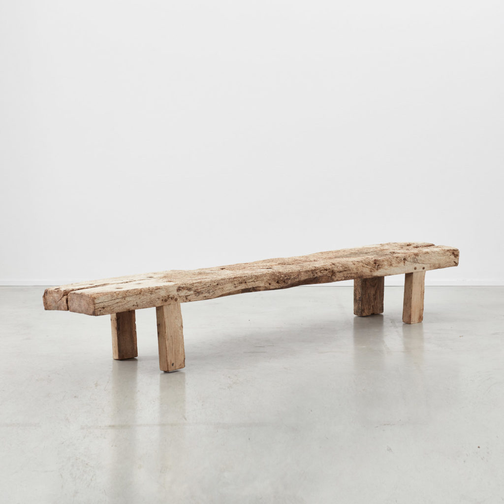 Provincial wooden bench