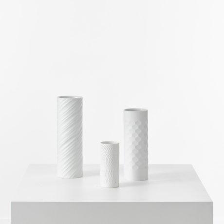 Bavarian op art white vases
