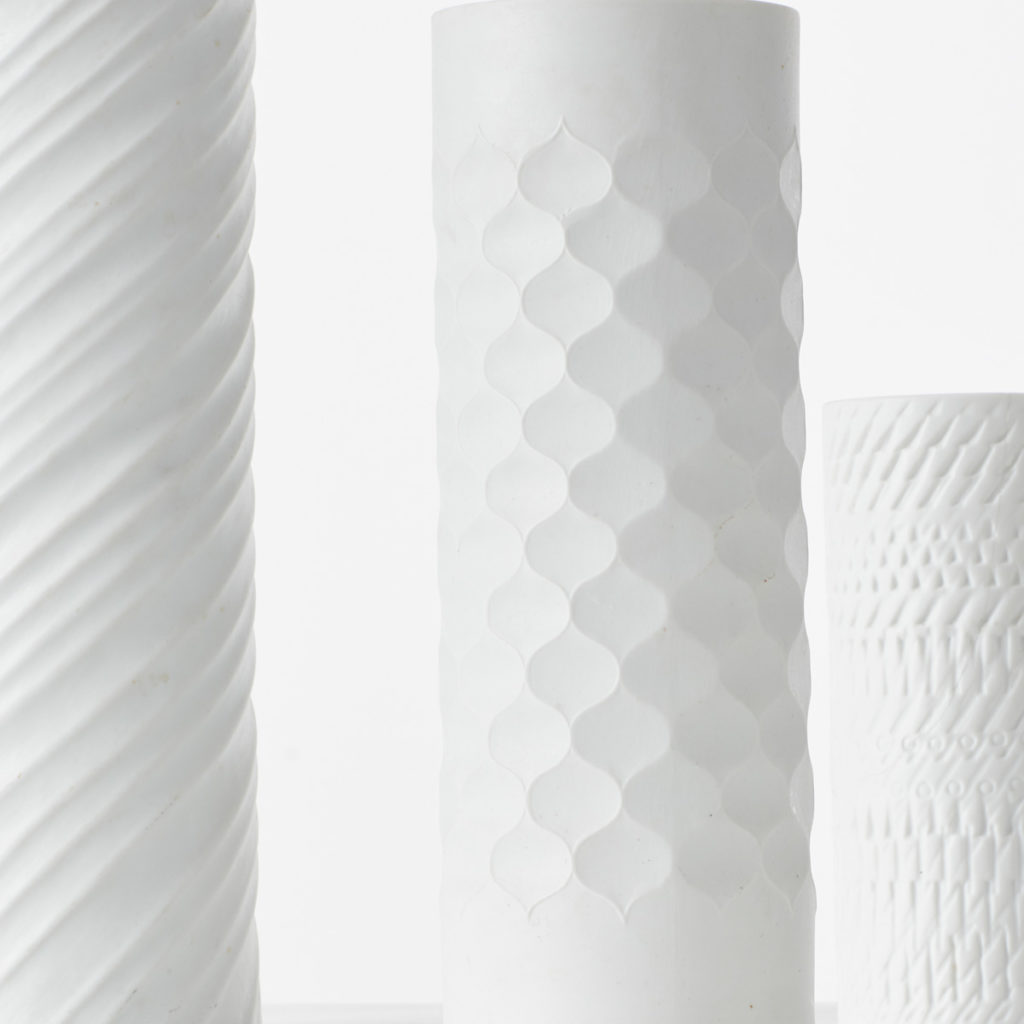 Bavarian op art white vases