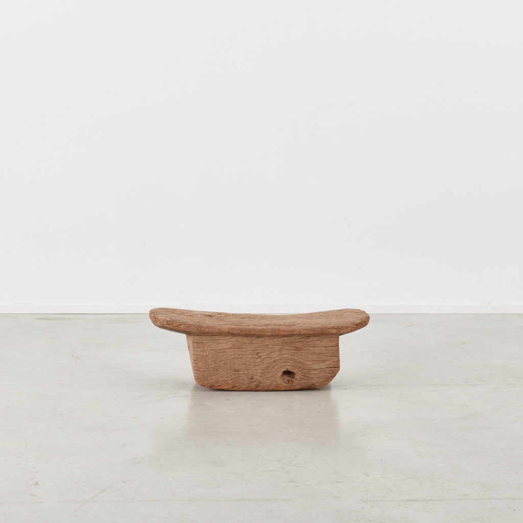 Wooden meditation stool