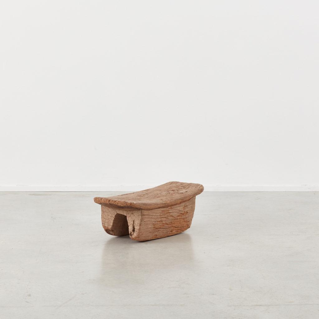 Wooden meditation stool