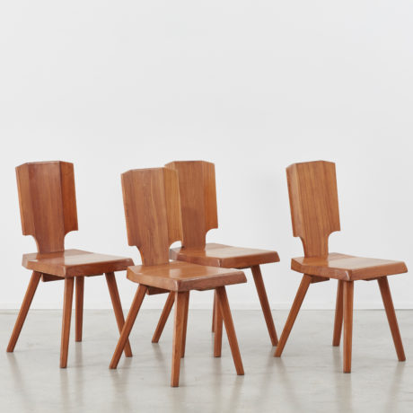 Set of 8 S28 Pierre Chapo dining chairs