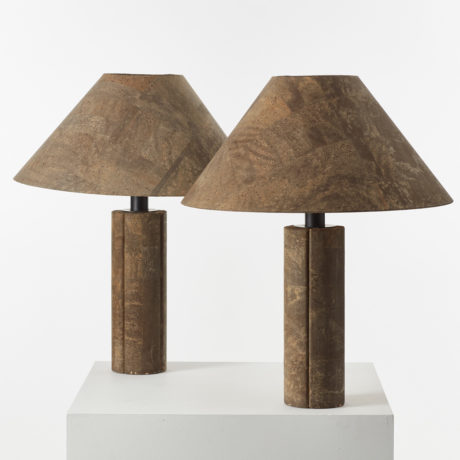Pair Ingo Maurer Cork lamps
