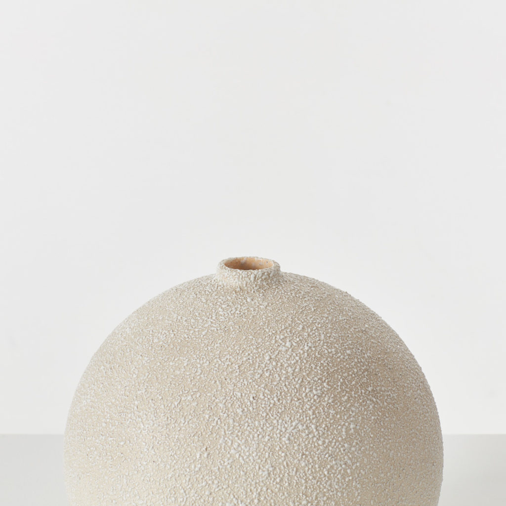 Spherical ceramic Sèvres vase