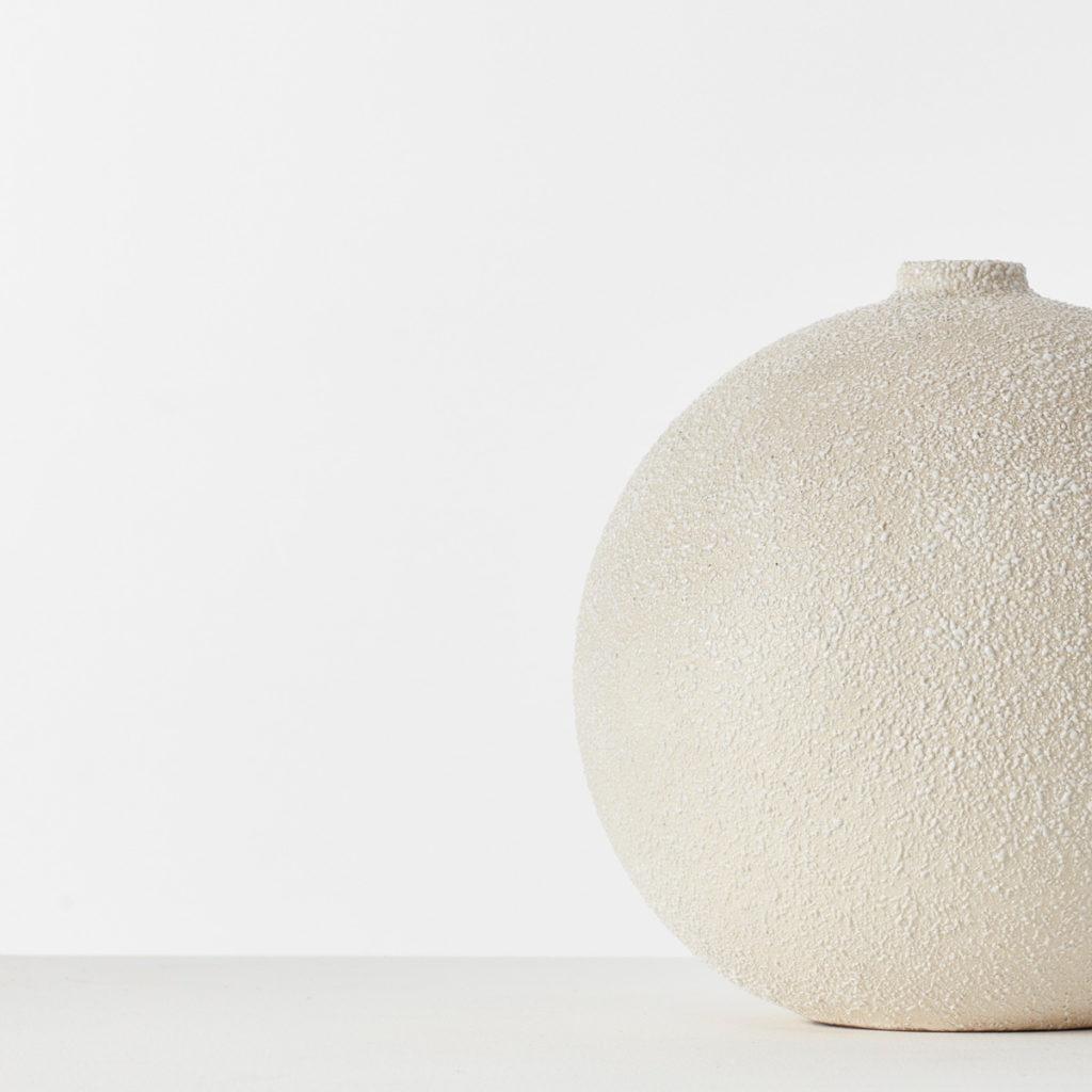 Spherical ceramic Sèvres vase