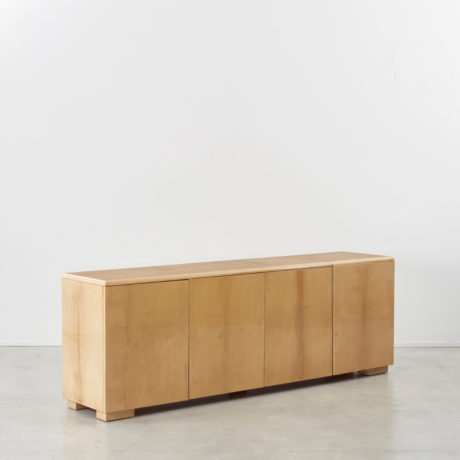 Aldo Tura lacquered goatskin sideboard