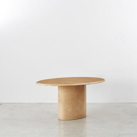 Aldo Tura lacquered goatskin oval table